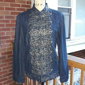 (NWT) LILAH JEAN JACKET BY CHICO
